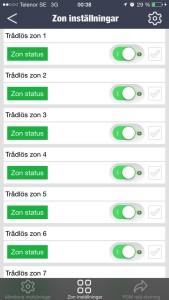 Gripen Guard app zoner